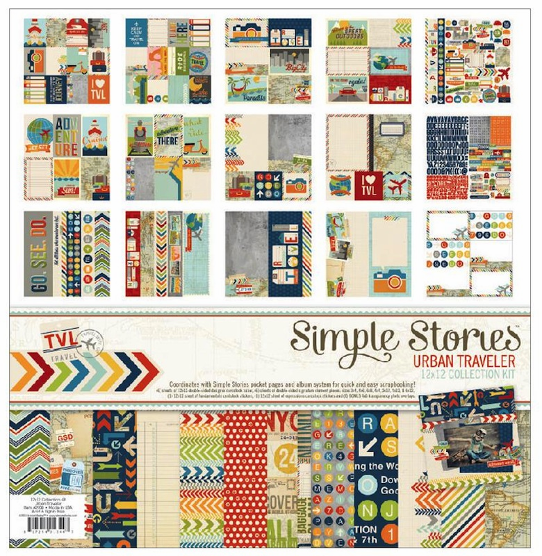 Simple Stories - Urban Traveler - Collection Kit 12x12 - S/O