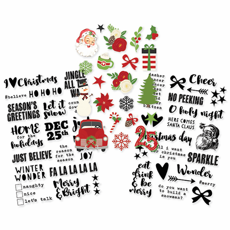 Simple Stories Very Merry Clear Stickers (E)