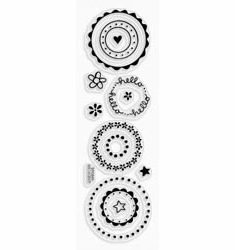 Stampendous: Circle Talk Spots - Perfectly Clear Stamp Set - S/O