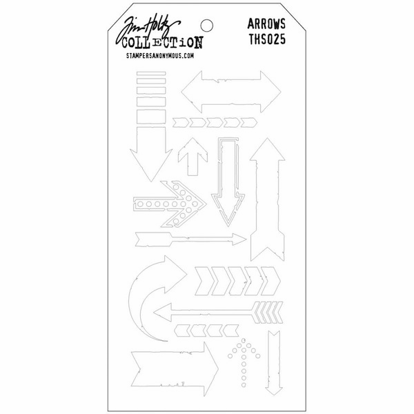 Stampers Anonymous - Tim Holtz - Layering Stencil - Arrows (E*)