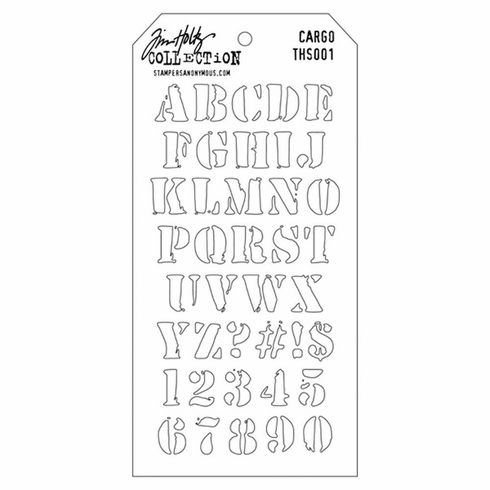 Stampers Anonymous - Tim Holtz - Layering Stencil - Cargo (E*)