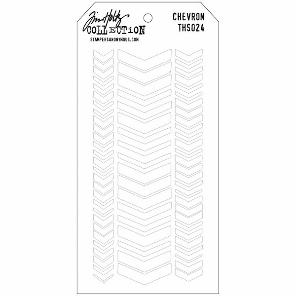 Stampers Anonymous - Tim Holtz - Layering Stencil - Chevron  (E*)