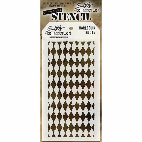 Stampers Anonymous - Tim Holtz - Layering Stencil - Harlequin (E*)
