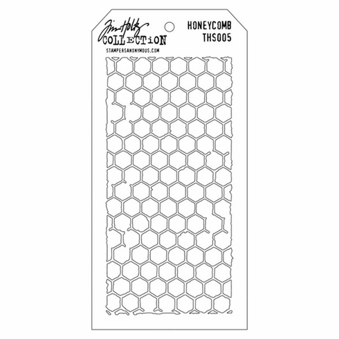 Stampers Anonymous - Tim Holtz - Layering Stencil - Honeycomb - S/O