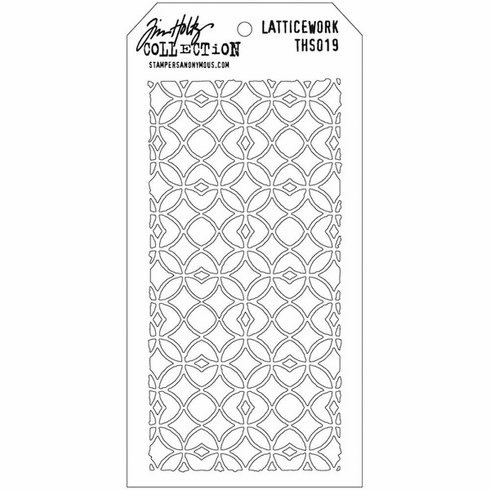 Stampers Anonymous - Tim Holtz - Layering Stencil -  Latticework (E*)