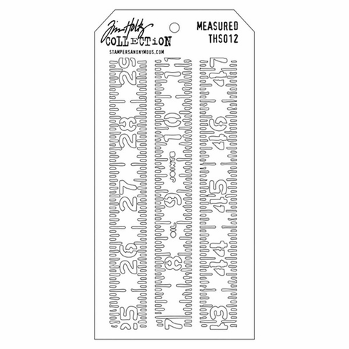 Stampers Anonymous - Tim Holtz - Layering Stencil - Measured (E*)