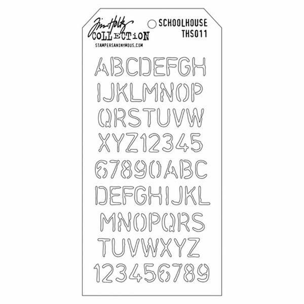 Stampers Anonymous - Tim Holtz - Layering Stencil - Schoolhouse (E*)