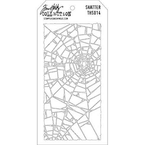 Stampers Anonymous - Tim Holtz - Layering Stencil - Shatter (E*)