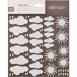 Studio Calico - Heyday - Mistable Shapes Stickers - Weather (E)