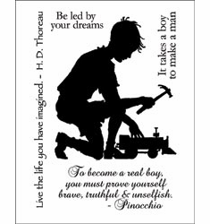 """Technique Tuesday: Clear Stamps 3""""X4"""" - A Real Boy (S/O)"""