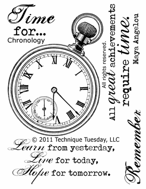 "Technique Tuesday: Clear Stamps 3""X4"" - Chronology (S/O)"