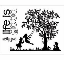 "Technique Tuesday: Clear Stamps 3""X4"" - Life Is Good (S/O)"