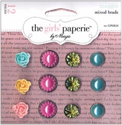 The Girls' Paperie: Maggie - Mixed Brads 12/Pkg (E)