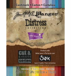 "Tim Holtz Distress Paper Pad 4.25"" X 5.5"" (72/Sheets)"