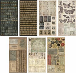 Tim Holtz: Idea-Ology Cardstock Salvage Stickers - Crowded Attic (E*)