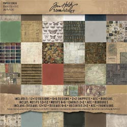 "Tim Holtz: Idea-Ology - Paper Stash 12""X12"" - Crowded Attic (S/O)"