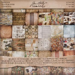 "Tim Holtz: Idea-Ology - Paper Stash 12""X12"" - Destinations (S/O)"