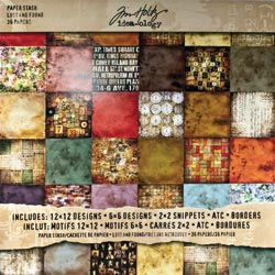 "Tim Holtz: Idea-Ology - Paper Stash 12""X12"" - Lost & Found (S/O)"