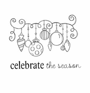 Unity Stamp: Itty Bitty Unmounted Rubber Stamp - Ornamental Season (E)