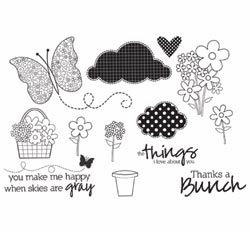 Unity Stamp: Jillibean Soup Unmounted Rubber Stamps - Blossom Soup (E)