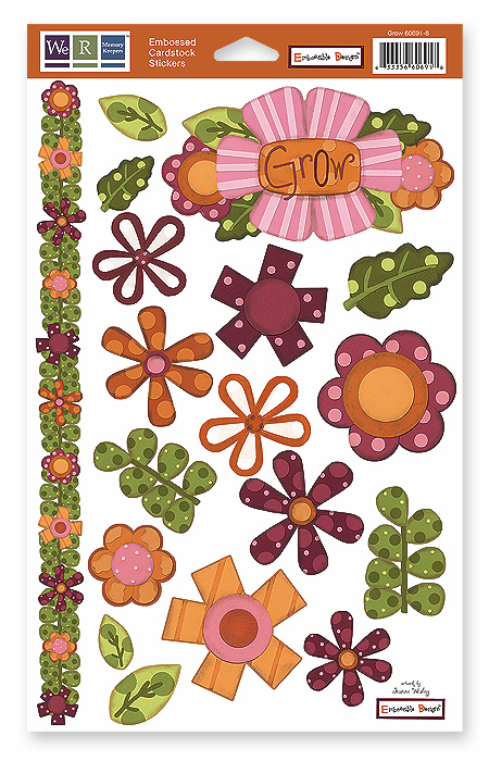 WRMK: Grow - Embossed Cardstock Stickers