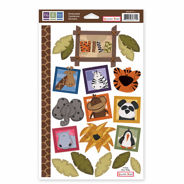 WRMK: Wild - Embossed Cardstock Stickers