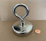 "Neodymium Cup Assembly 2.950"" dia. x 0.750"" with Hook"