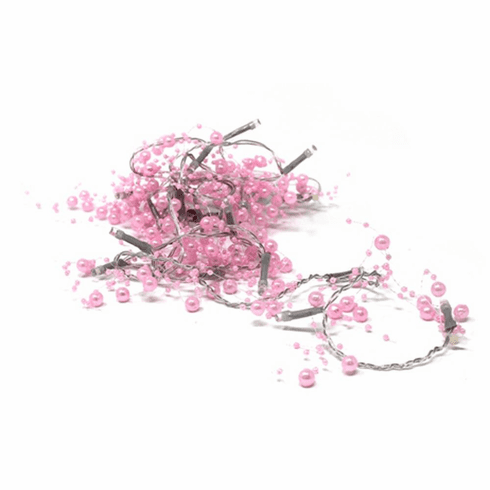 20 LED Pink Beads String Light