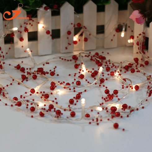 20 LED Red Beads String Light