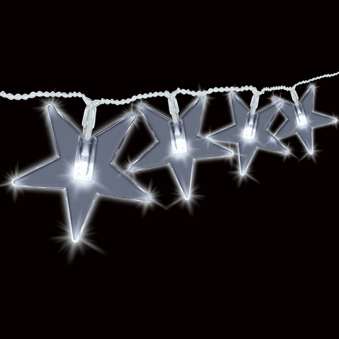 30 LED Solar String Lights-Stars Design