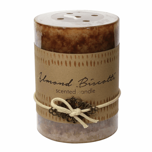 Almond Biscotti Pillar Candle 3X4