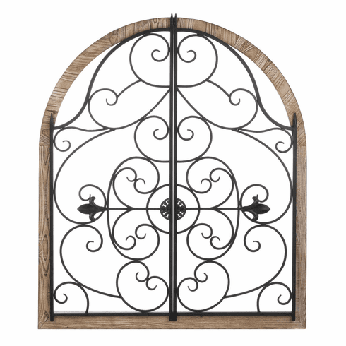 Arched Wood Iron Wall Decor