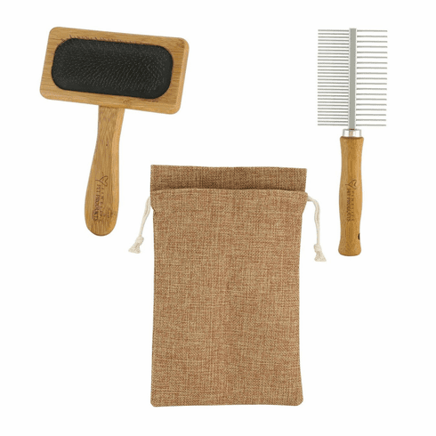 Bamboo Pet Grooming Set