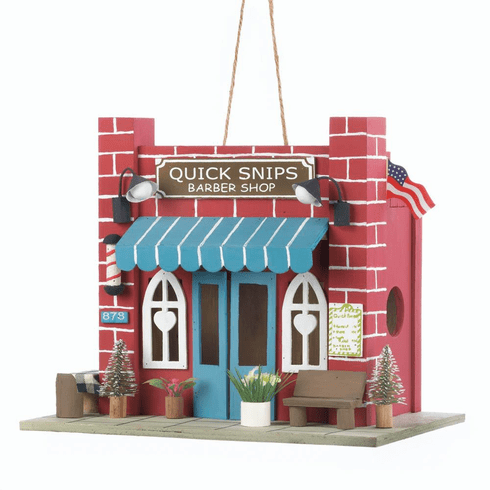 Barber Shop Birdhouse