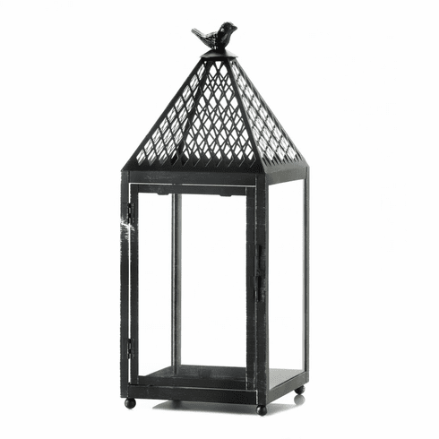 Black Bird Iron Lantern (L)