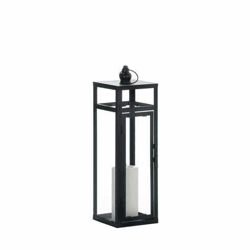 Black Dramatic Geometry Lantern