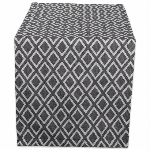 Black & White Diamond Table Runner 14X108