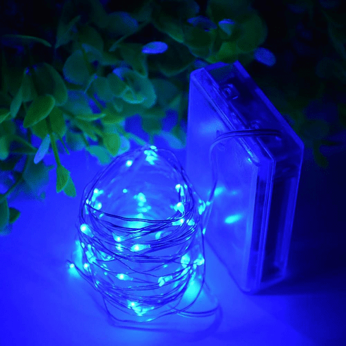 Blue 20 LED Copper Fairy Lights