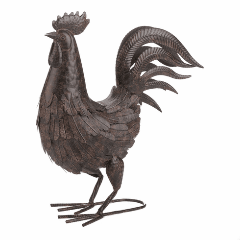 Brown Rooster Decoration