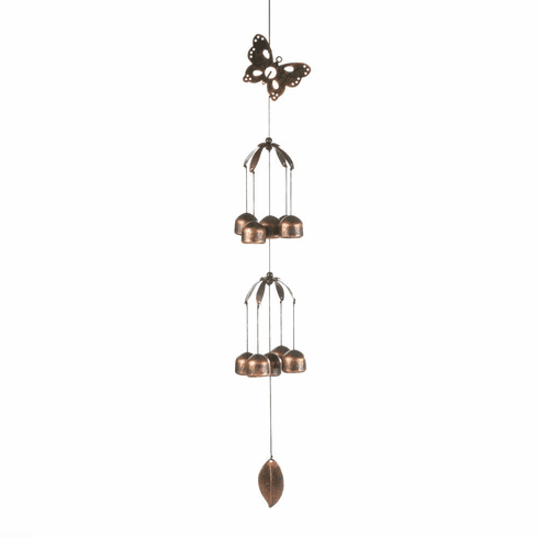 Butterfly Double Tier Bell Wind Chimes