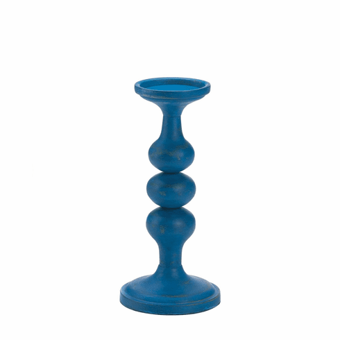 Carmona Blue Artisan Candle Holder