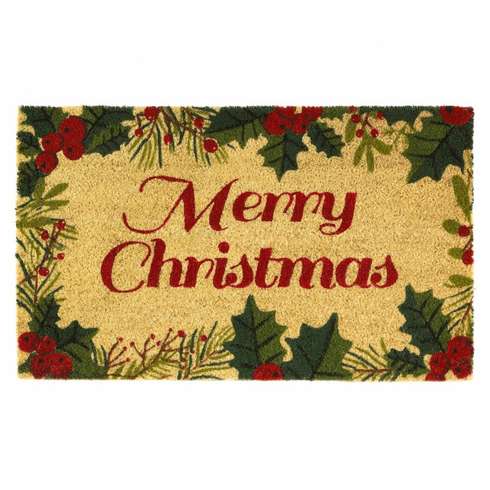 Christmas Holly Doormat