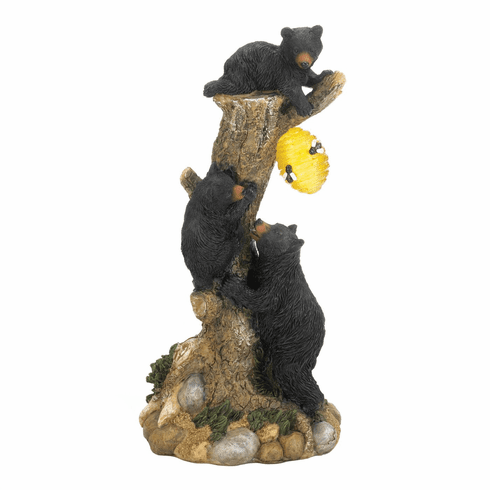 Climbing Bear Honeycomb Solar Light