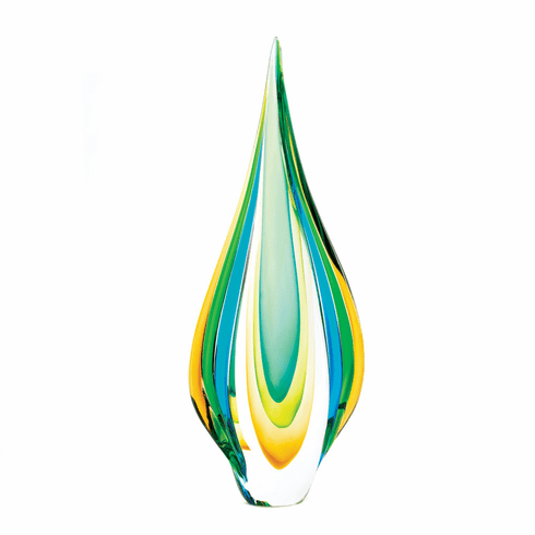 Cool Flame Art Glass Statue
