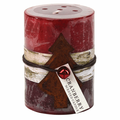 Cranberry Rustic Candle 3X4