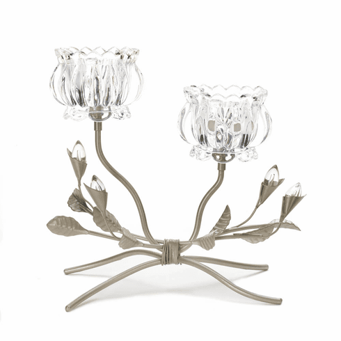 Crystal Flower Candle Stand