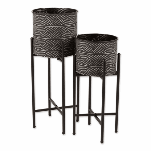 Deco Waves Bucket Plant Stand Set