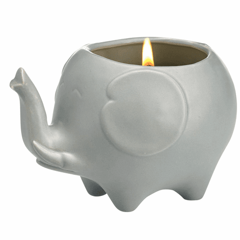 Elephant Candle - Matte Silver