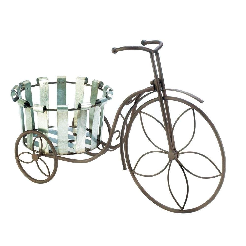 Galvanized Bucket Bike Plant Stand Wholesale At Koehler