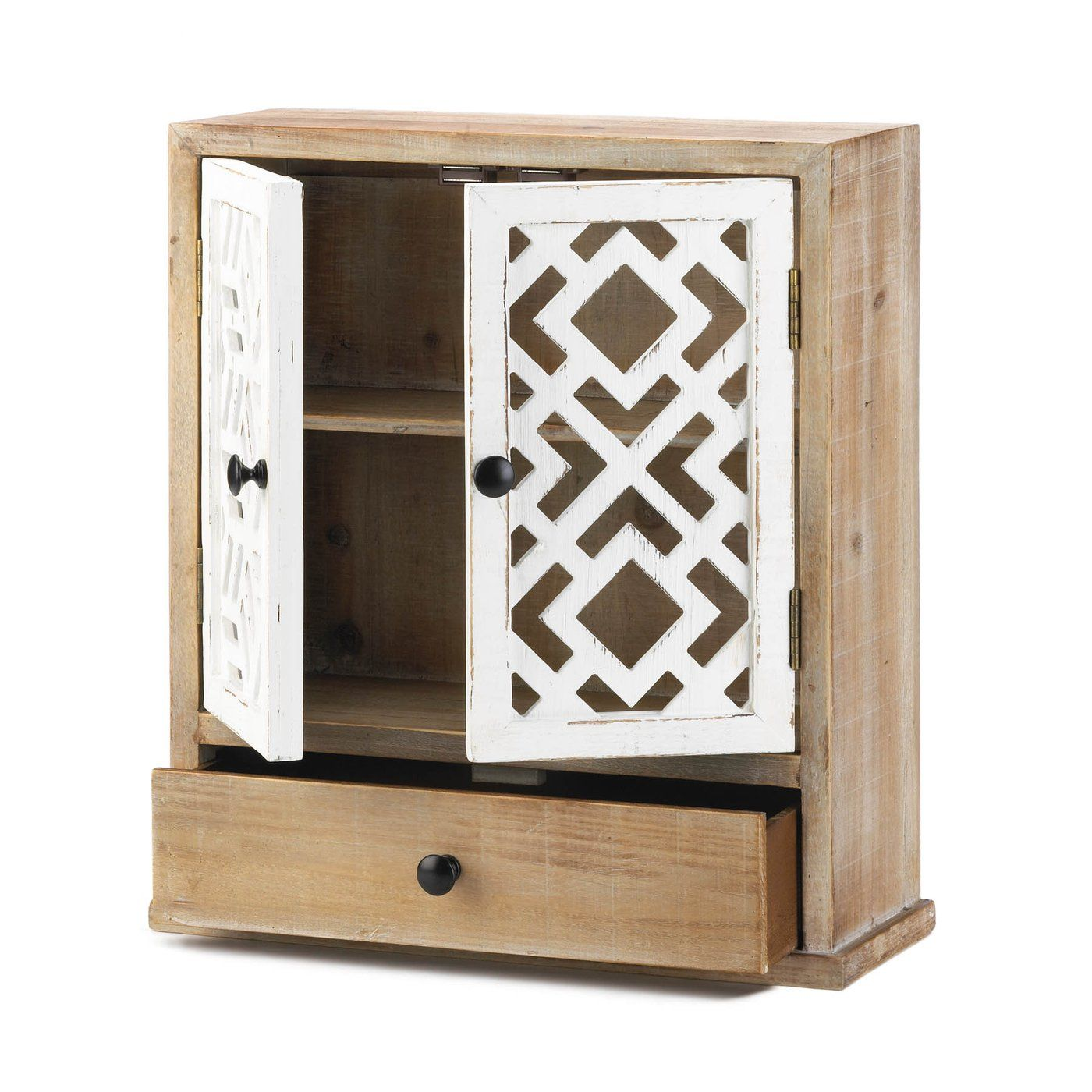 Geo Pattern Wall Cabinet Wholesale At Koehler Home Decor